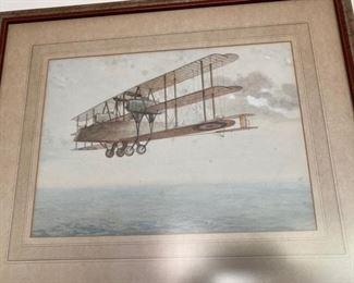 early French triplane print