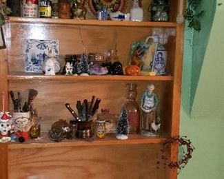 Shelf full of fine collectibles