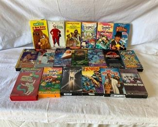 Collection of Childrens VHS Tapes