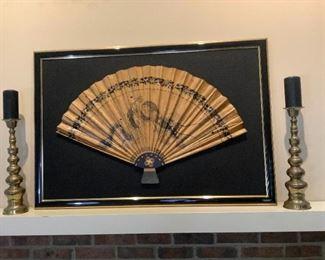 003 Antique Framed Fan