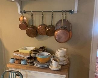 Many kitchen items from professional chef.