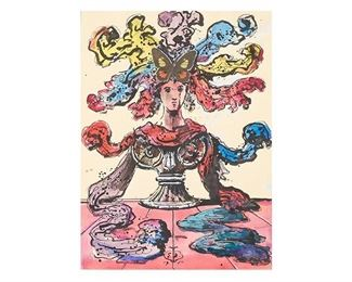 """Eugene Berman, """"Design for Silk Show Manifesto"""", 1951"""
