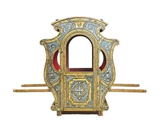 Carved Wood Carriage Theater Prop