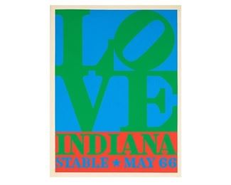 """Robert Indiana, Green and Blue """"Love"""" Poster, 1966"""