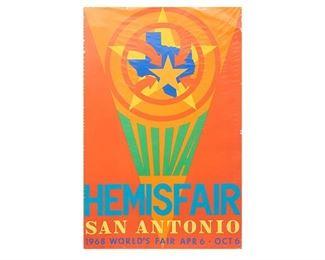 Robert Indiana, Hemisfair San Antonio Signed Poster, 1968