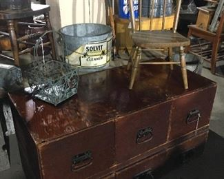 Vintage 2 pc wooden drawer unit—repurpose for a coffee table.