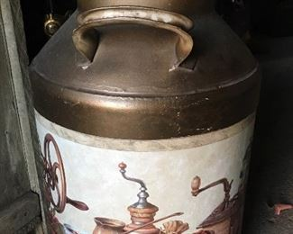 Coffee grinder theme cream can.