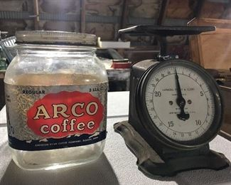 Arco coffee jar, old scale.
