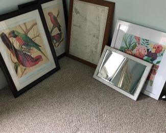 Lots of art, prints, paintings, etc.
