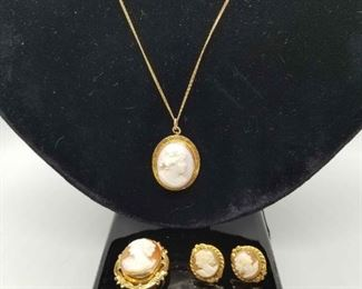 12k gf Cameo Jewelry