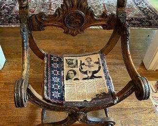 """Childhood chair of Margaret Mitchell author of """"Gone with the Wind"""""""