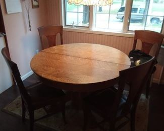 Oak Dining Set.