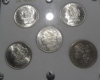 5 Coin Carson City Morgan Silver Dollar set. Offered only on this Sunday. So make sure to come or call tomorrow.