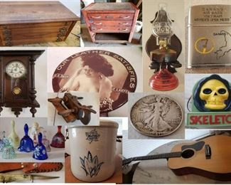Guns, Guitars, Oil Lamps, Collectibles, Tools Furniture, Coins, Toys