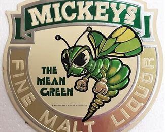 MICKEYS BEER ADVERTISING SIGN