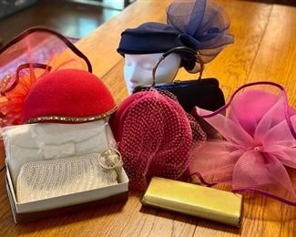 vintage hats, handbags and parrot brooch - contact svintagecollection@gmail.com for pre-sale