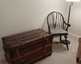 Trunk and Windsor Chair
