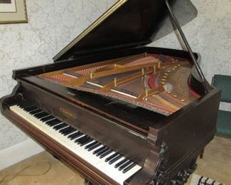 """Emerson 6'9"""" Grand Piano Serial #57436 circa 1893"""