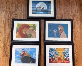 001 Lion King Set of 5 Framed Lithographs
