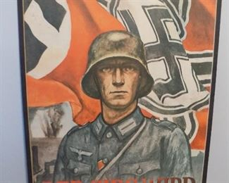 """Vintage German poster """" Victory will be ours"""""""