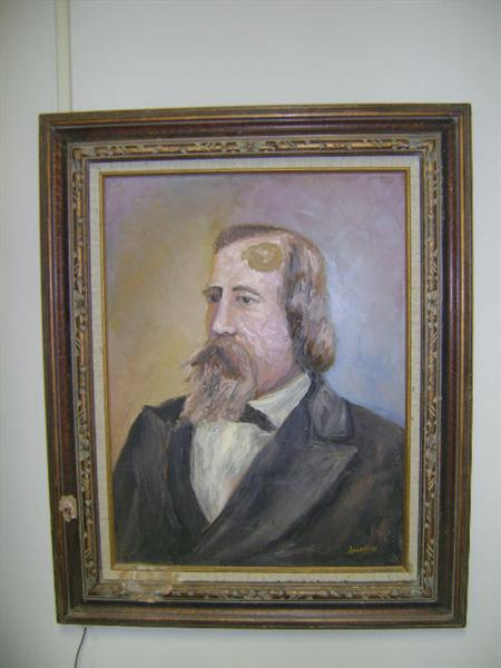 oil portrait of Lucius Lamar, Oxford historian and grandfather of Dr. Wayne Lamar