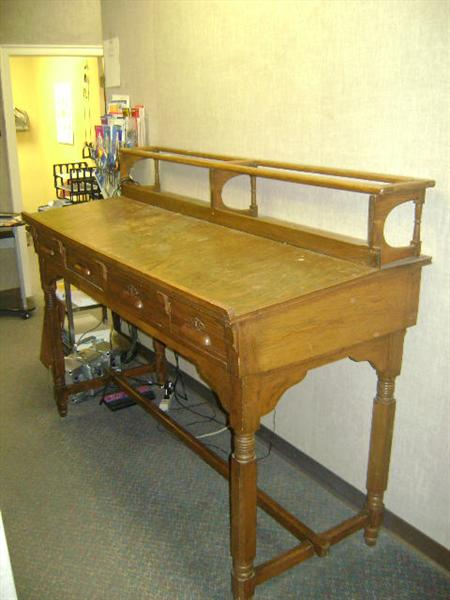 Federal, Fifth District, Judge Stevens court desk, 1800s. More info to come.