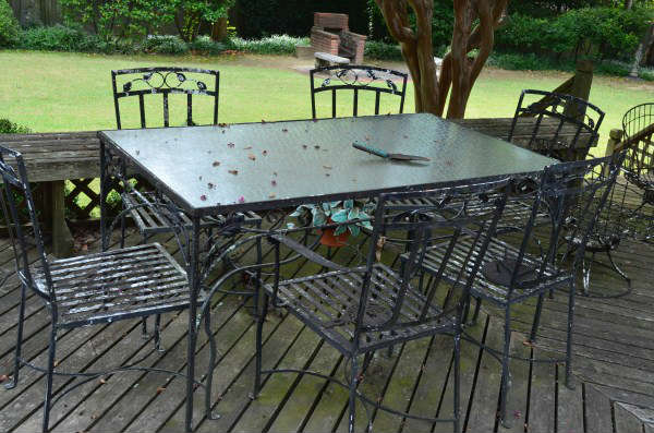 Grill and all the Patio - 5 sets, concrete and more, tables and chairs