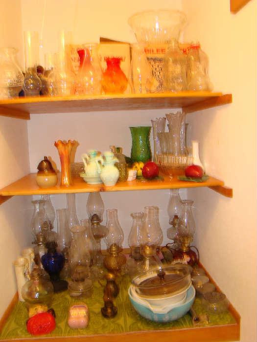 Collection of Kerosene Lamps