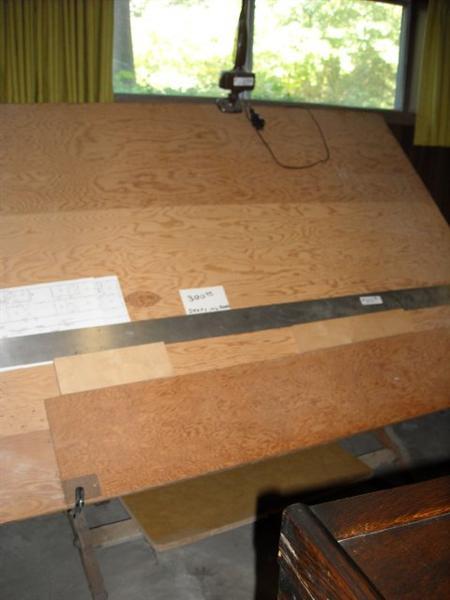 Huge drafting table.