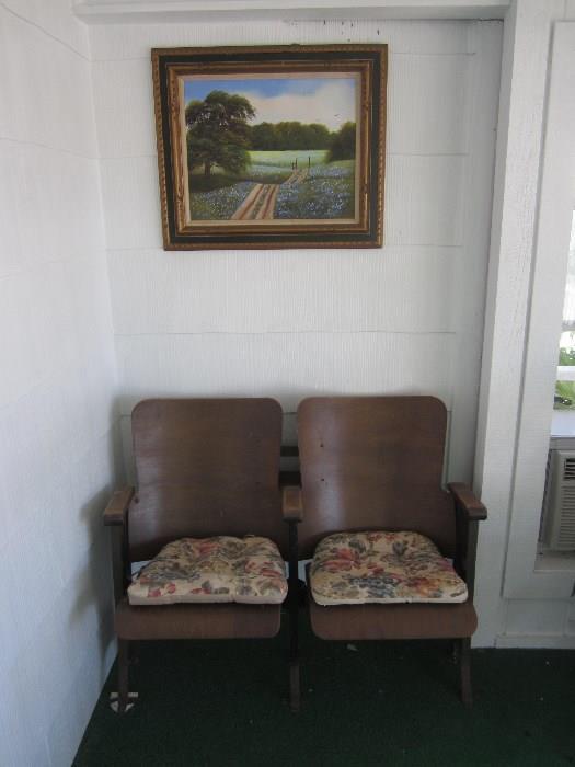 Auditorium Seats, Oil Painting