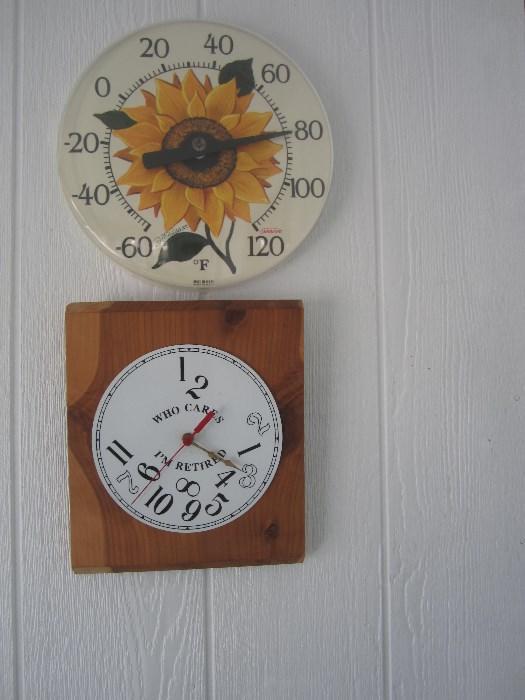 Temperature Gauge and Silly Clock (needs new clock mechanism)