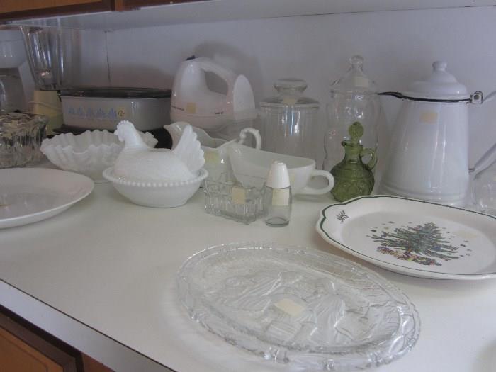 Enamelware Coffee Pot,  Hand Mixer, Nice Miscellaneous Pieces