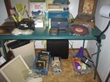 Dominoes, Vintage Record Player, 45s, 78s, Frames, Paper Shredder, Office Miscellaneous
