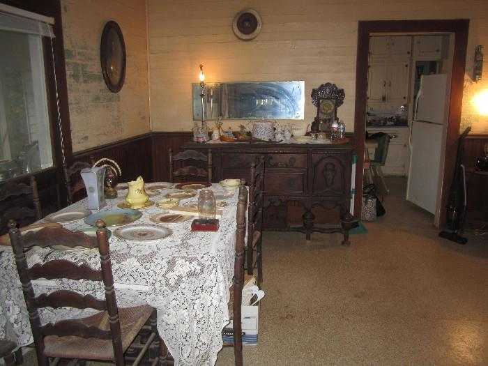 Dinning room set and buffet