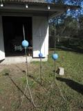 Lightning Rods! They are Awesome.  We have a few more without the globes too.