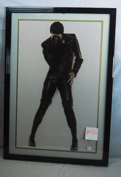 PORTRAIT OF MICHAEL JACKSON IN THE THINKER POSE AFTER HERB RITTS