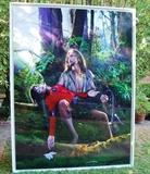 AMERICAN JESUS - MICHAEL JACKSON IN THE ARMS OF JESUS  BY DAVID LACHAPELLE 7' X 9'