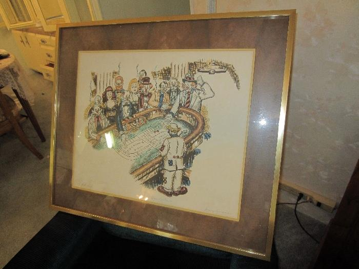 "Artist proof signed by George Crionas ""High Rollers"""