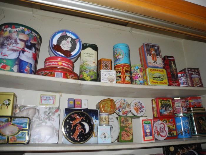 Tins, tins and more tins