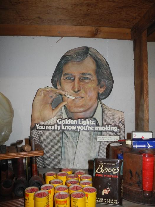 Vintage cigarette sign/ad
