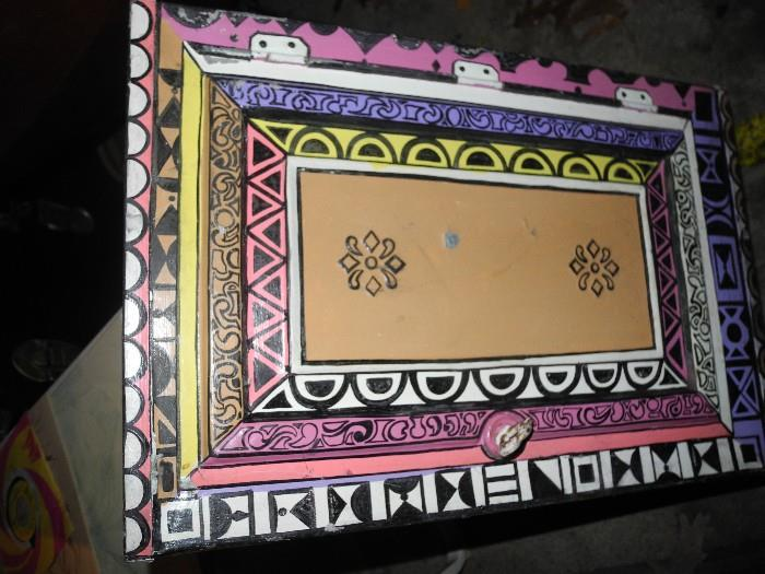 Art box painted by Bob Lee and signed