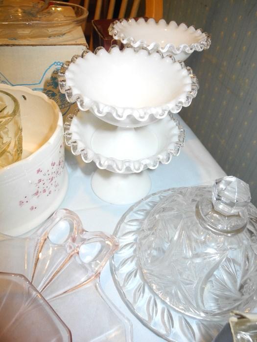 Fenton silvercrest sherbet dishes