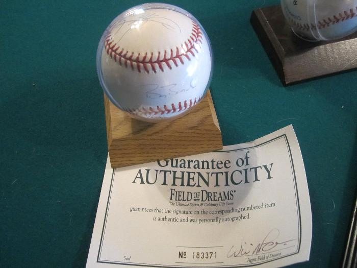 Sammy Sosa and Barry Bonds Autographed Baseball