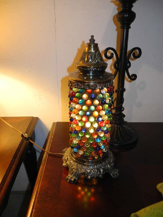 Very cool light with colored marbles