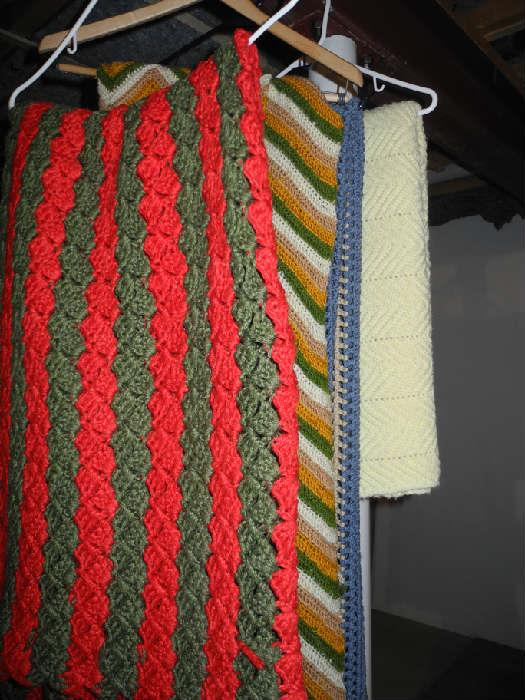 Nice selection of hand crocheted afghans