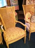 2 upholstered French chairs