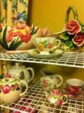 teapots and cups & saucers