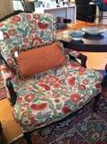 custom upholst. armed chair