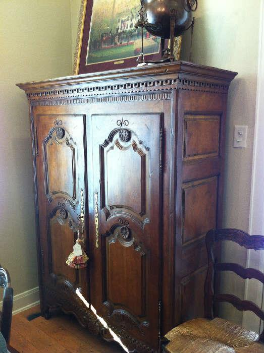 exceptional armoire with matching table/6 chairs