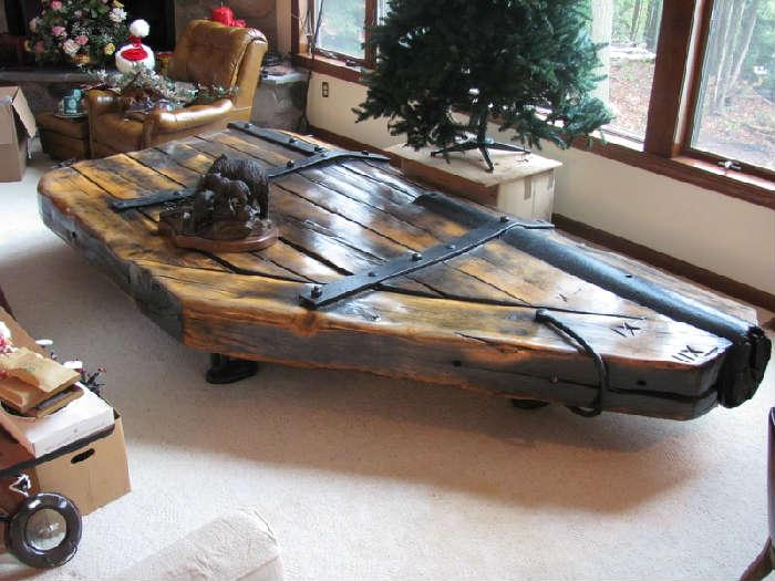 Great Lakes Shipwreck rudder table measures 12'x 6'